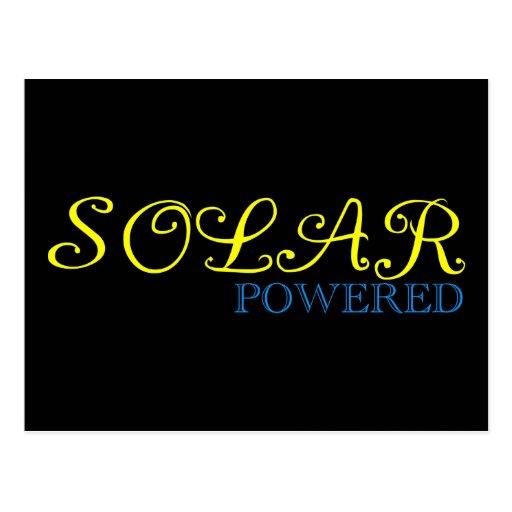 solar powered postcard