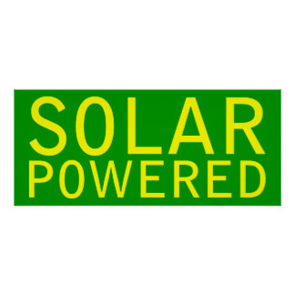 solar powered poster