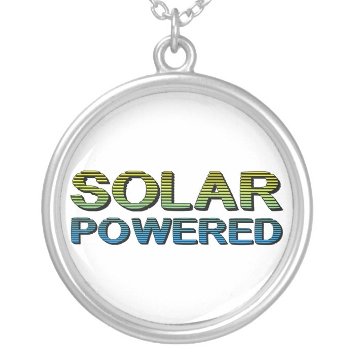 solar powered silver plated necklace