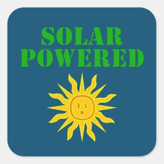 Solar Powered Square Sticker
