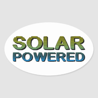 solar powered oval stickers