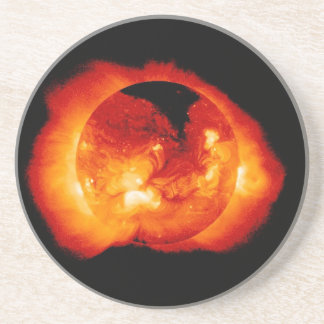 Solar Radiation and Flares Emitted by the Sun Sandstone Coaster