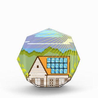 Solar Renewable Energy Eco Efficient Acrylic Award
