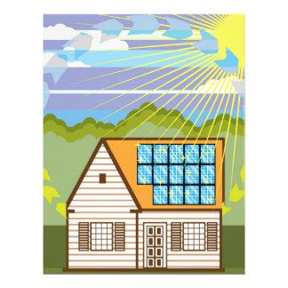 Solar Renewable Energy Eco Efficient Letterhead