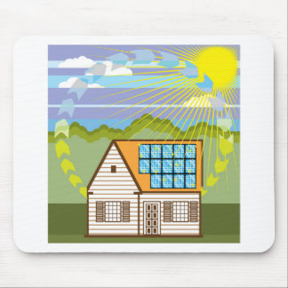 Solar Renewable Energy Eco Efficient Mouse Pad