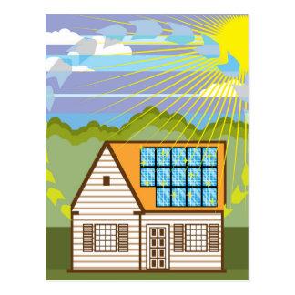 Solar Renewable Energy Eco Efficient Postcard