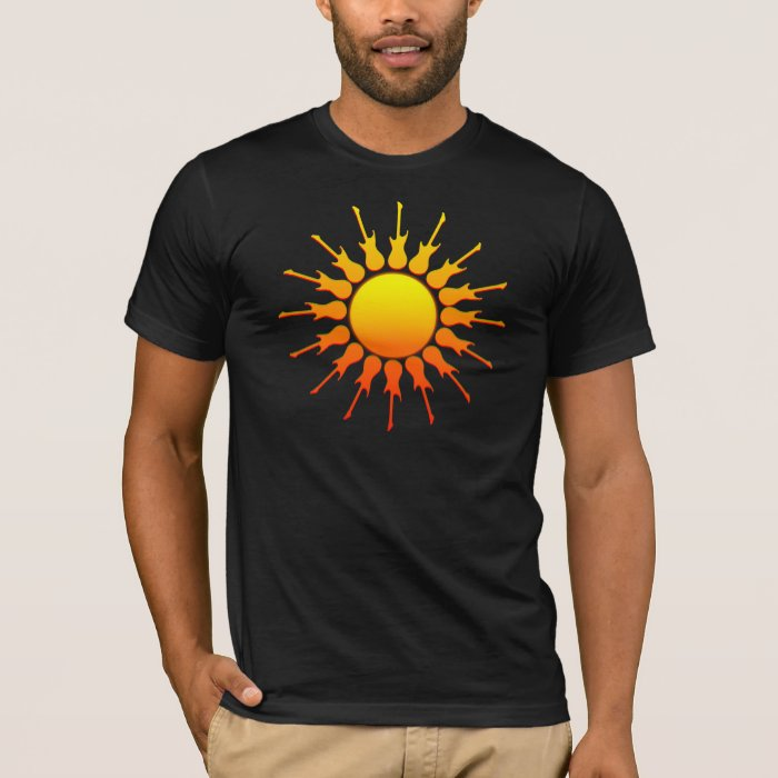 Solar Rock, Sun With Guitar Rays With Shading T-Shirt