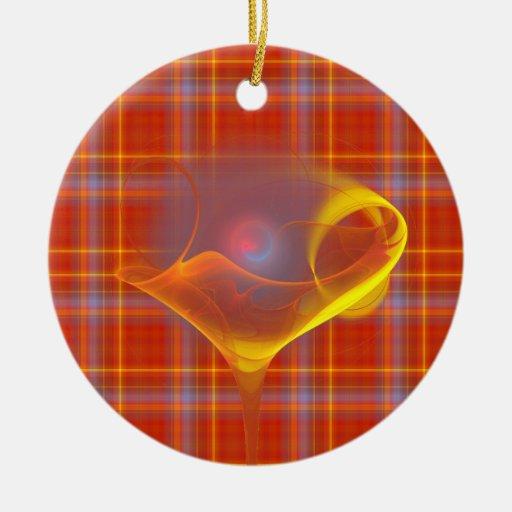 Solar Salud Faery Martini Art Double-Sided Ceramic Round Christmas Ornament