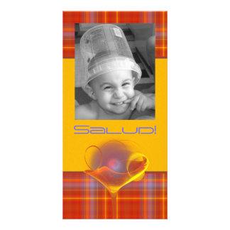 Solar Salud Faery Martini Art Personalized Photo Card