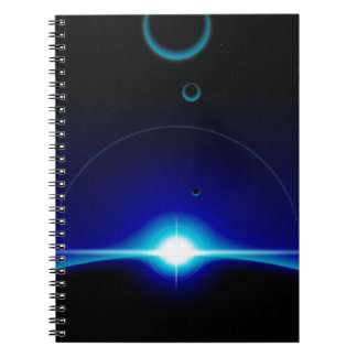 Solar Scene Spiral Notebook