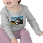 Solar Siberian Husky Tee Shirt