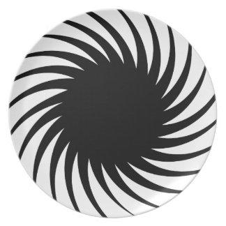 Solar Spiral Twist Dinner Plate