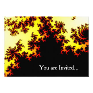 Solar Storm Abstract Personalized Invitation