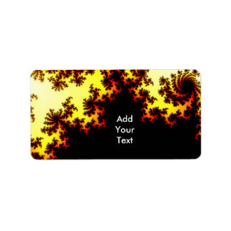 Solar Storm Abstract Personalized Address Labels