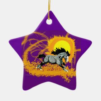 Solar Storm Stallion Christmas Tree Ornaments