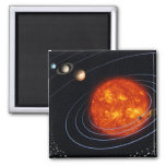 Solar System 8 2 Inch Square Magnet