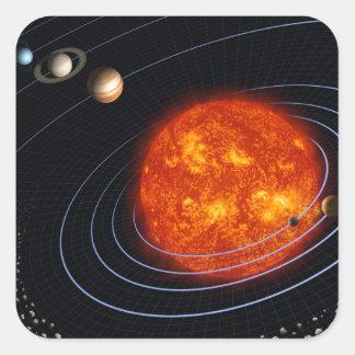 Solar System 8 Square Sticker