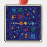 Solar System ABCs Metal Ornament