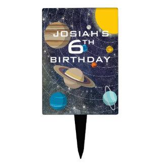 Solar System Birthday Party Cake Topper