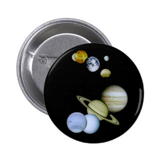 Solar System Button Space - Astronomy Science gift