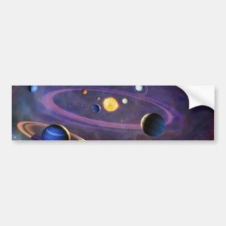 Solar System Car Bumper Sticker
