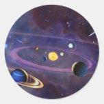 Solar System Classic Round Sticker