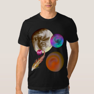 Solar System Design Fitted Short Sleeve Tee Shirts