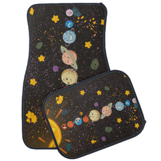 Solar System Funny Planets Car Floor Mat