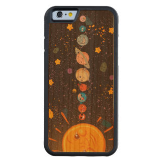 Solar System Funny Planets Carved Cherry iPhone 6 Bumper Case