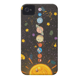 Solar System Funny Planets iPhone 4 Case-Mate Case