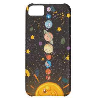Solar System Funny Planets iPhone 5 C Case