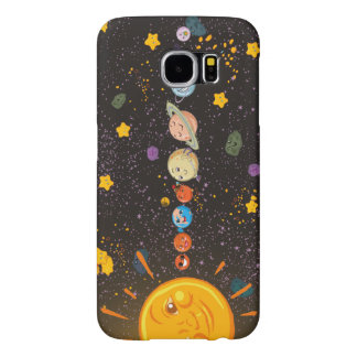 Solar System Funny Planets Samsung Galaxy S6 Cases