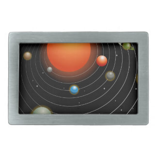 Solar System Graphic Rectangular Belt Buckles