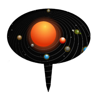 Solar System Graphic Cake Topper