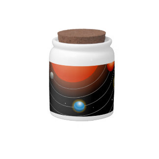 Solar System Graphic Candy Jars