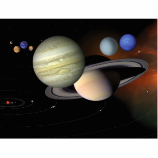 Solar System Illustration Space Art Cutout