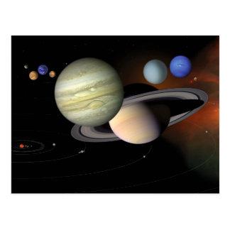 Solar System Illustration Space Art Postcards
