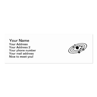 Solar system mini business card