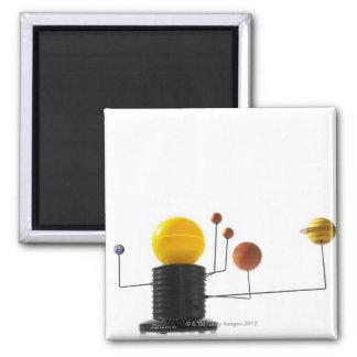 Solar system model on white background 2 inch square magnet