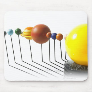 Solar system model on white background 2 mouse pad