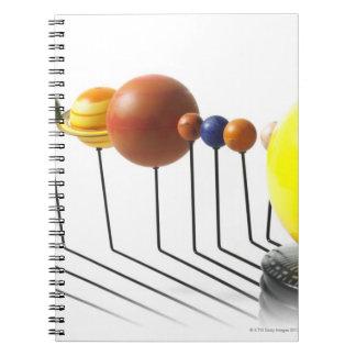 Solar system model on white background 2 notebook