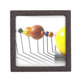 Solar system model on white background 2 premium keepsake box