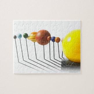 Solar system model on white background 2 puzzle
