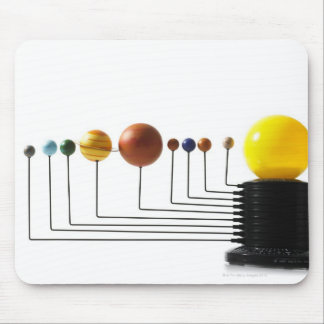 Solar system model on white background 3 mouse pad