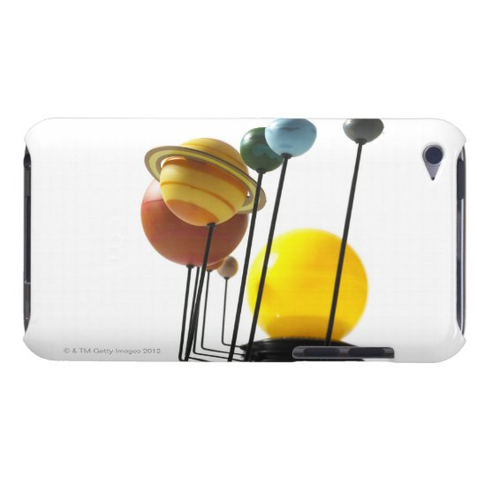 Solar system model on white background 4 iPod touch cover