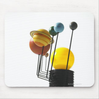 Solar system model on white background 4 mouse pad