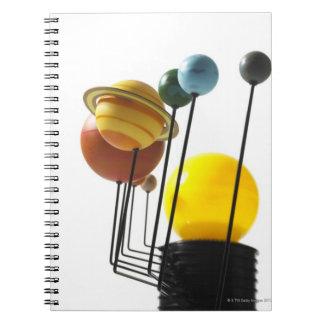 Solar system model on white background 4 spiral notebook