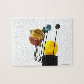 Solar system model on white background 4 puzzle