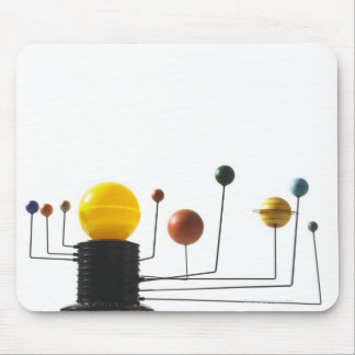 Solar system model on white background 5 mouse pad
