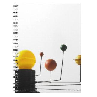 Solar system model on white background 5 spiral notebooks